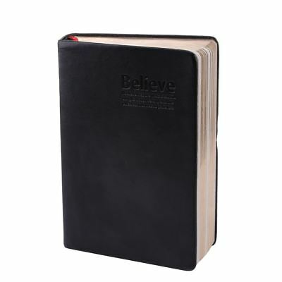 Thick Paper Notebook with Leather Cover for Planning and Schoolwork