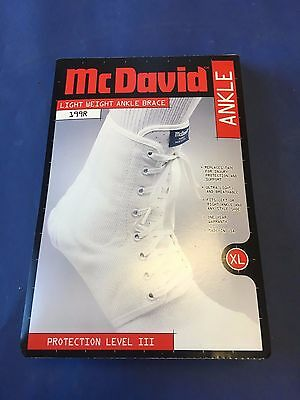 McDavid Light weight 199R X- Large Laced Ankle Brace / Guard XL white lace up