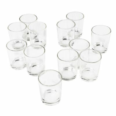 Clear Glass Votive Candle Holders Aromatherapy Tealight Making Holding Cups OZ