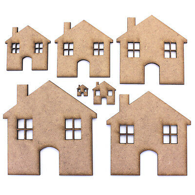 House / Home Craft Shapes. Various Sizes 10mm - 200mm. 2mm MDF Laser Cut
