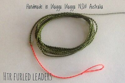 HTR Fishing Supplies 9 Foot Tapered Furled Leader 4x to 6x Tippet
