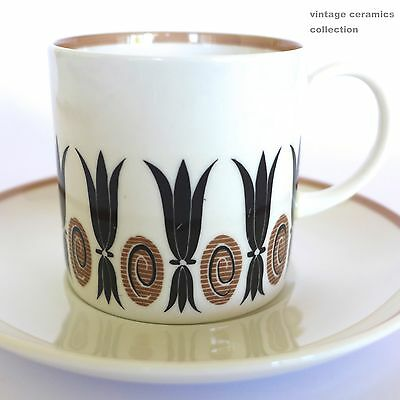 Vintage 1950s SUSIE COOPER 'Corinthian' Demi Coffee Cup & Saucer Duo
