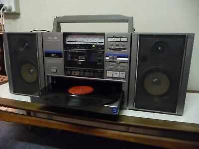 Vintage JVC DC - 7 Turntable Ghetto Blaster Boombox Boom Box