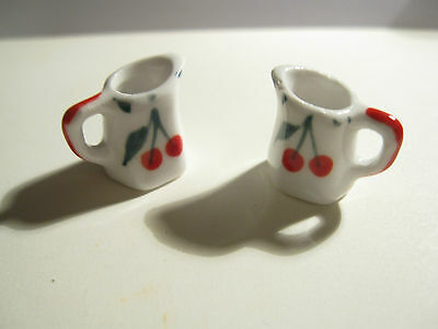 Dolls House Miniature Jugs / Cherries
