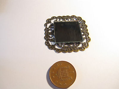 Dolls House Miniature Mirror Square