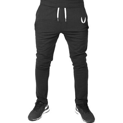 Mens Gym Sport Trousers Tracksuit Bottoms Skinny Joggers Sweat Pants Fashion