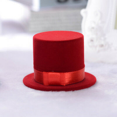 Women Cute Magic Hat Velvet Ring Box Earring Ring Storage Jewelry Boxes Gifts