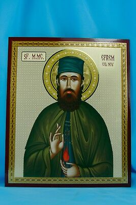St. Ephraim the Great Martyr of Nea Makri Orthodox Icons 20x24cm