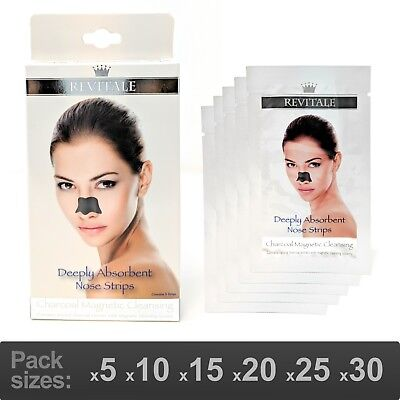 Revitale Charcoal Deep Magnetic Cleansing Nose Pore Strips - Removes Blackheads