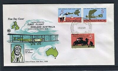 1969 50th Anniversary Of First UK To Australia WCS Unaddressed FDC, Good Cond
