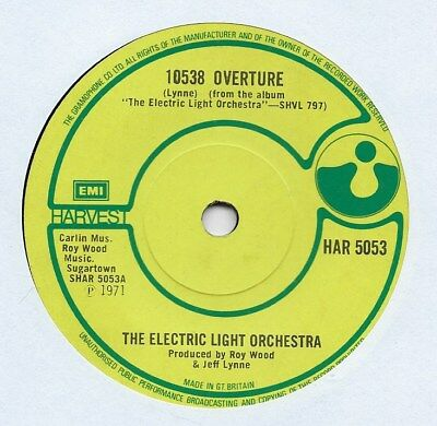 "Electric Light Orchestra - 10538 Overture - 7"" Single"