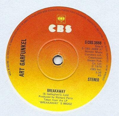 "Art Garfunkel - Breakaway - 7"" Single"