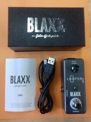 BLAXX LOOPER electric guitar/instrument pedal, true bypass, unlimited loops! NEW