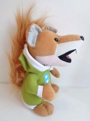 "BASIL BRUSH with GREEN HOODY - 11"" SOFT TOY - Dated 2008"