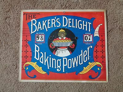 Bakers Delight Baking Powder, 1970's Reproduction Sign