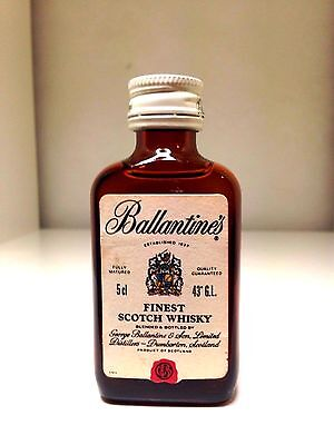 Ballantine's Finest Scotch Whisky Rare Circa 1960's Miniature 50mL