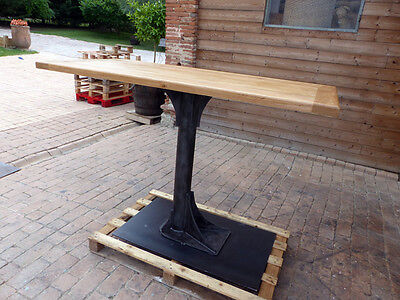 Table industrielle pied central