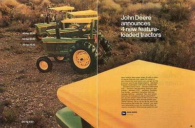 1973 John Deere 830 1530 2030 & 2630 Farm Tractor 2 Page Print Ad