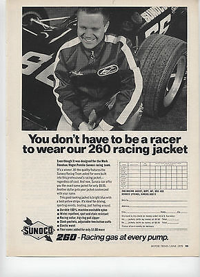 1970 Sunoco 260 Racing Gas Jacket Print Ad ""
