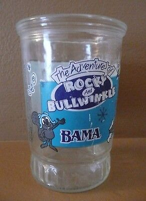 Vintage BMA The Adventures of ROCKY & BULLWINKLE #3 BORIS Glass Jelly Jar