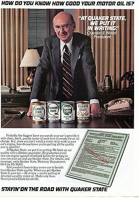 1982 Quaker State Motor Oil How Do You Know How Good Your Oil Is Print Ad
