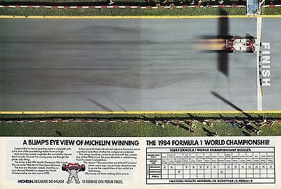 1985 Michelin Tires Winning The 1984 Formula 1 World Championship 2 Page Ad