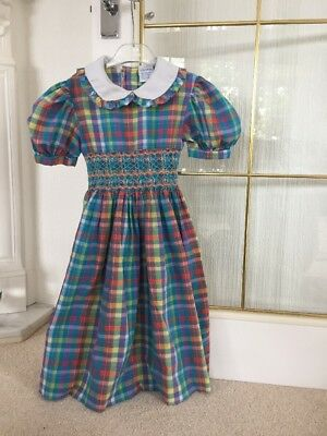Smocked Girls Dress Age 7-8 Years Romany Spanish