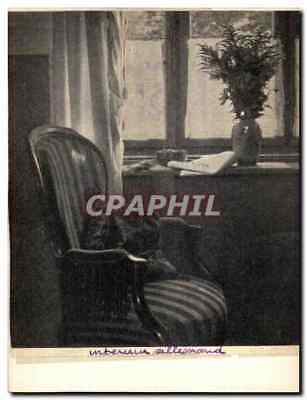 VINTAGE POSTCARD German interior