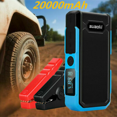 Suaoki 20000mAh 800A 12V USB Car Jump Starter Booster Power Bank Battery Charger
