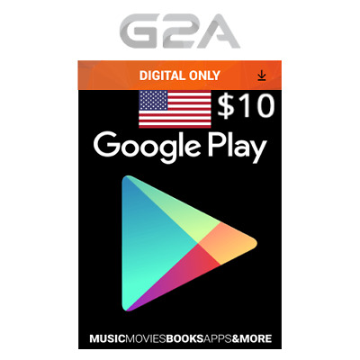 $10 USD Google PLAY Store Gift Card - 10 US Dollar Google Play Code -Android Key