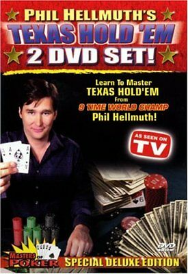 HELLMUTH PHIL - Phil Hellmuths Texas Hold Em 2- Set Masters Of Poker - 2 DVD NEW