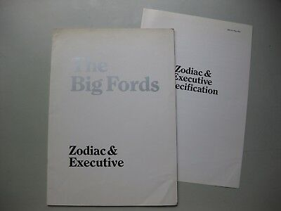 Ford Zodiac Executive prestige brochure Prospekt English language 1969 26 + 4 pg