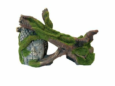 Moss Covered Tree & Head Ruin Aquarium Decoration Fish Tank Vivarium Ornament