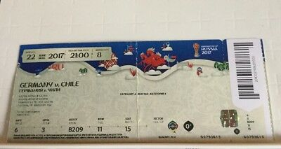 Biglietto/ticket Germania - Cile Confederations Cup 2017 Match N. 8