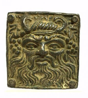 Ancient Greek Zeus Silver Buckle, Museum-Quality