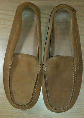Dockers Leather Mens Camel Brown Slippers/ Moccasin  Sz Xl  Euc