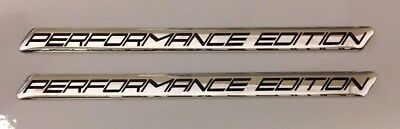 PERFORMANCE EDITION Black Slimline HIGH GLOSS DOMED GEL FINISH Stickers/Decals