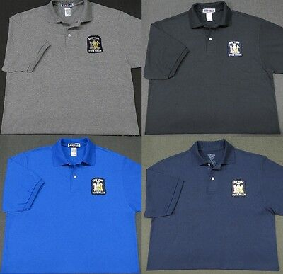 New York State Police Patch Polo Shirt - MED to 3XL - 4 Colors - NEW