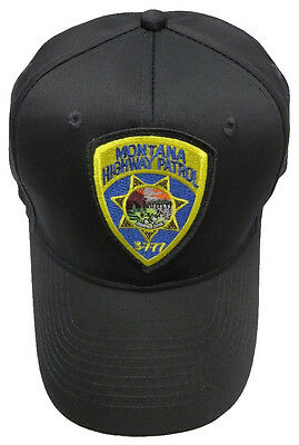 Montana Highway Patrol Patch Snap Back Ball Cap / Hat - BLACK - OSFA - New