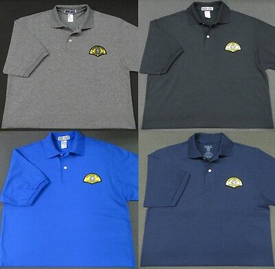 Washington State Patrol Patch Polo Shirt - MED to 3XL - 4 Colors - NEW