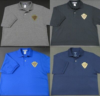 Oklahoma Highway Patrol Patch Polo Shirt - MED to 3XL - 4 Colors - NEW