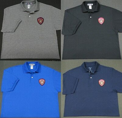 Texas Highway Patrol Patch Polo Shirt - MED to 3XL - 4 Colors - NEW