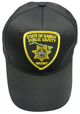 Hawaii Public Safety Sheriff Patch Snap Back Ball Cap / Hat - BLACK - OSFA