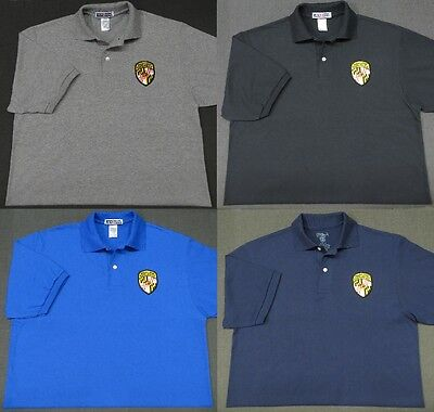Maryland State Police Patch Polo Shirt - MED to 3XL - 4 Colors - NEW
