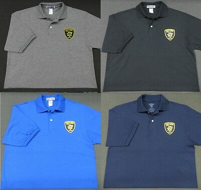 Hawaii DPS Sheriff Police Patch Polo Shirt - MED to 3XL - 4 Colors - NEW