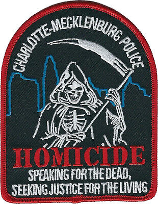 Charolette-Mecklenburg Police Homicide North Carolina Shoulder Patch - NEW