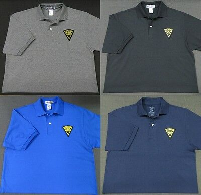 West Virginia State Police Patch Polo Shirt - MED to 3XL - 4 Colors - NEW