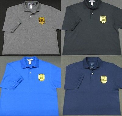 Iowa State Police Patch Polo Shirt - MED to 3XL - 4 Colors - NEW