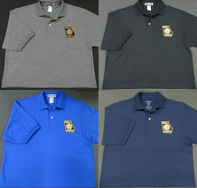 Georgia State Police Patch Polo Shirt - MED to 3XL - 4 Colors - NEW