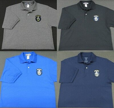 Maine State Police Patch Polo Shirt - MED to 3XL - 4 Colors - NEW